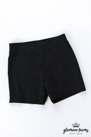 sku12174   Polka Dot Woven Shorts
