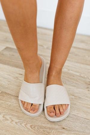 sku21087   Farah Woven Textured Slide Sandal