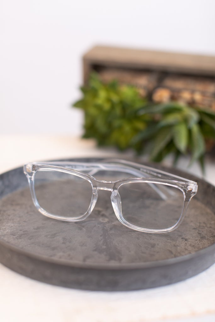 sku17682 | Rectangle Blue Light Filter Glasses