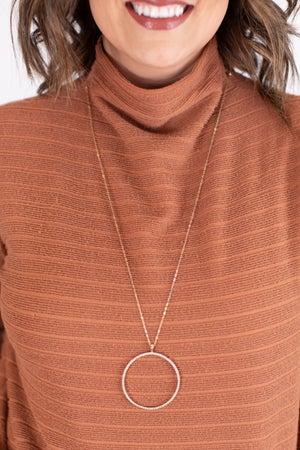 sku17369 | Circle Crystal Necklace