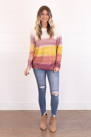 sku17389 | Tie Dyed Knit Sweater