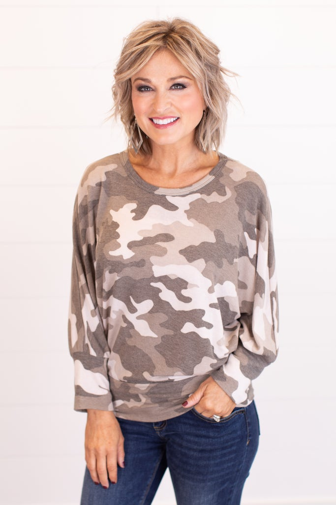 sku17188 | Camo Dolman Top