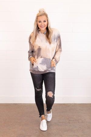 sku16148 | Tie Dyed Hooded Sweatshirt