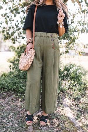 sku20127 | Crinkle Knit Wide Leg Pants