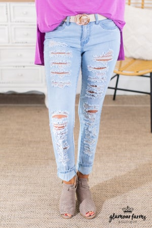 sku14589 | Destroyed Skinny Jean