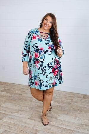 sku18435   Floral Strappy Dress