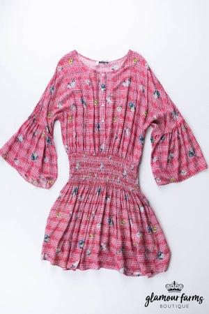 sku13152 | Floral Smocked Waist Dress