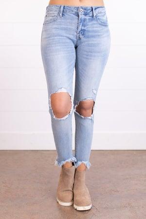 sku17482 | Distressed Skinny Jean