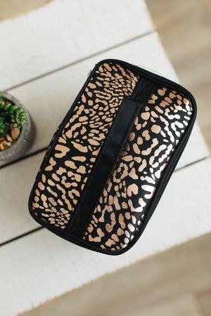 sku20255   Metallic Print Makeup Bag