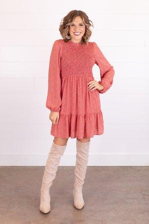 sku16455 | Ditzy Dot Smocked Dress