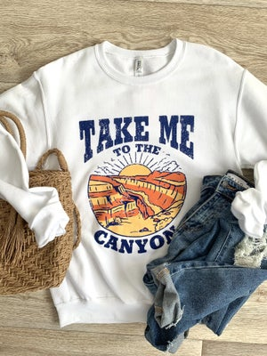 sku19182 | Take Me To The Canyon Graphic Sweatshirt