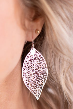 sku17005 | Filigree Leaf Earrings
