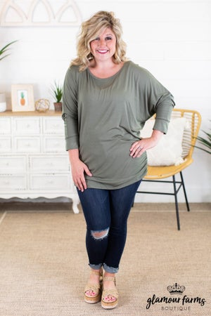 sku13740 | **Daily Deal** Side Shirred Top