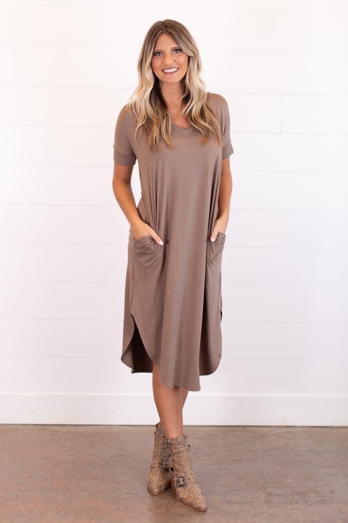 sku16033 | **Daily Deal** Side Pocket Midi Dress
