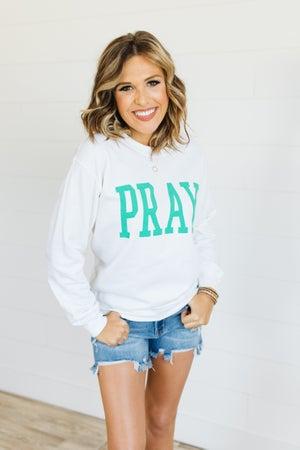 sku20096 | Pray Graphic Sweatshirt