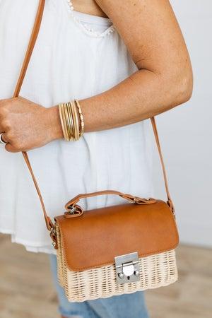 sku19804 | Woven Straw Crossbody Bag