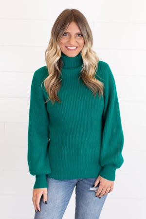 sku16751 | Ribbed Knit Turtleneck Sweater