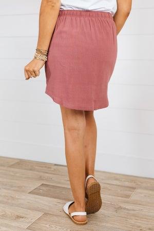 sku19010 | Linen Drawstring Skirt