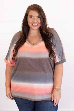 sku16726 | Ombre V-Neck Tunic