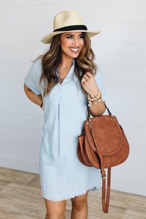 sku18955 | Linen Hi-Lo Tunic Dress