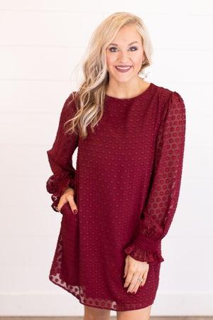 sku17719 | Lined Swiss Dot Dress