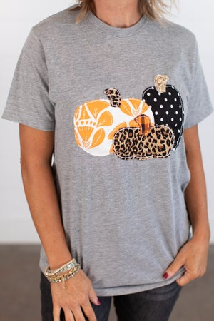 sku15076 | Pumpkin Applique Tee