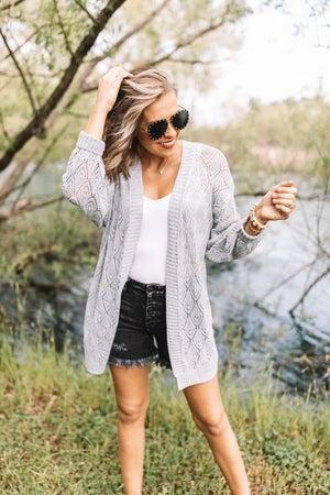 sku20985 | Pointelle Sweater Cardigan