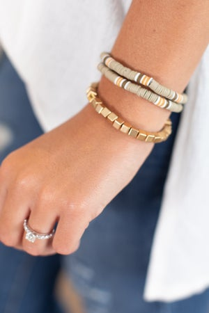 sku15775 | Rubber Bead Cube Bracelet