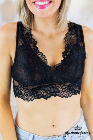 sku7931 | Lace Scalloped Bralette