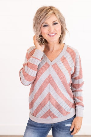 sku16543 | Chevron V-Neck Sweater