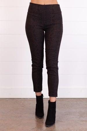 sku16405   Animal Print Pull-On Woven Pants