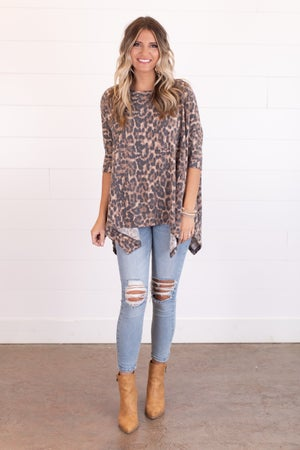 sku18039 | Animal Print Handkerchief Tunic