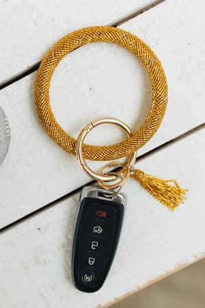sku21315 | Glass Seed Bead Keyring Wristlet
