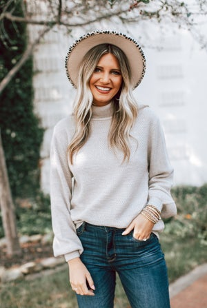 sku16312 | **Daily Deal** Heathered Turtleneck Sweater