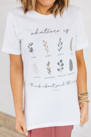 sku19156 | Whatever Is Graphic Tee