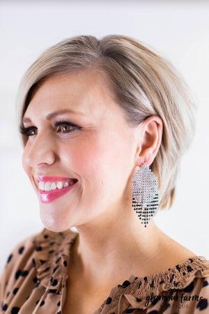 sku11734 | Crystal Tassel Earrings