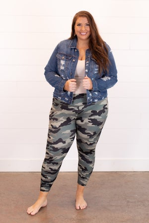 sku15982 | **Daily Deal** Camo Capri Yoga Leggings