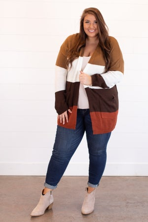 sku15487 | Color Block Sweater Cardigan