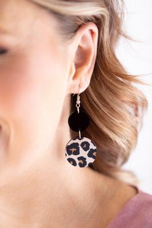 sku18013 | Wood And Acrylic Dangle Earrings