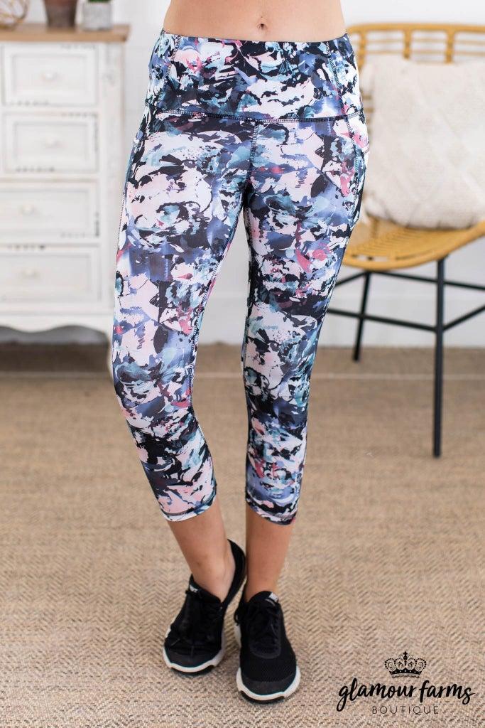 sku13652 | **Daily Deal** Floral Print Active Leggings