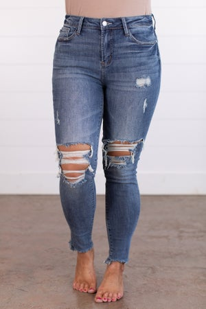 sku15496 | Destroyed High Rise Skinny