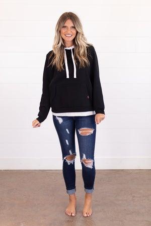 sku15974 | Layered Look Hoodie Sweatshirt