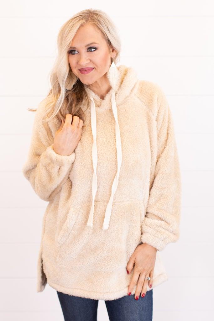 sku16281 | Faux Fur Hooded Pullover