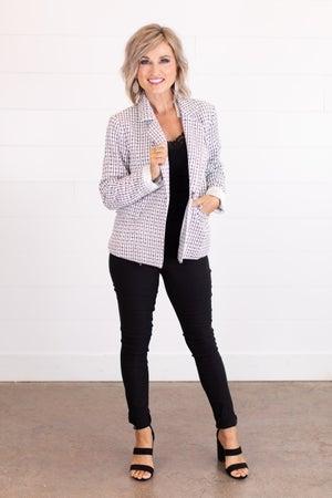 sku15416 | Metallic Tweed Blazer