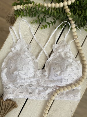sku20844   Padded Lace Cami Bralette