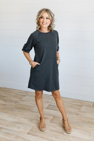 sku18889 | **Daily Deal** Tab Sleeve Dress