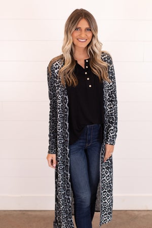 sku16565 | Animal Print Duster Cardigan