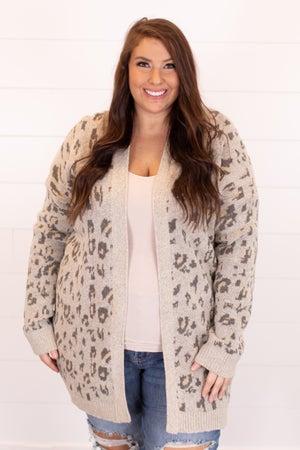 sku16836 | Animal Print Sweater Cardigan