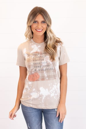 sku16230 | Bonfires And Pumpkins Bleached Graphic Tee