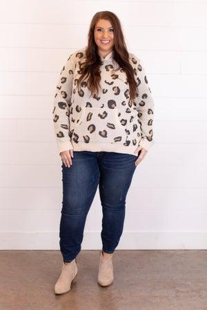 sku17178   Animal Print Hooded Sweater